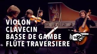 Violon, Clavecin, Basse de Gambe, Flûte Traversière