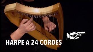 Harpe à 24 cordes