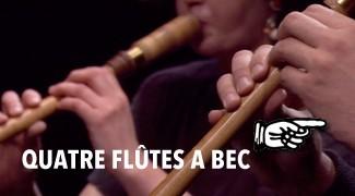 Quatre Flûte à Bec