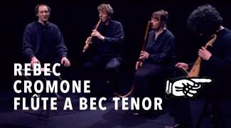 Rebec Cromorne Flûte à Bec Tenor